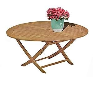STS SUPPLIES LTD - Mesa de café de Madera Redonda rústica para decoración de Muebles de Interior de Madera de tamaño bajo y Grande, Estilo Retro y Libro electrónico de ATS