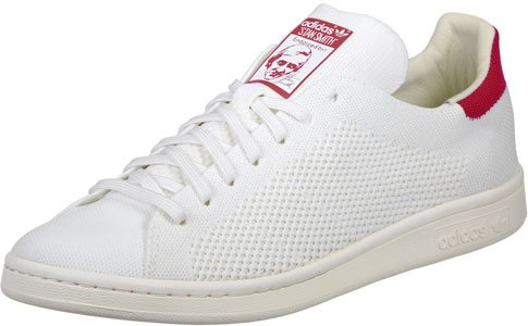 adidas Mens Originals Stan Smith Og Primeknit Trainers in White/Red 3lPIP3OZo