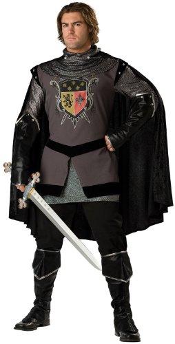 [InCharacter Costumes Men's Dark Knight Adult Costume, Gray/Black, X-Large] (Men Renaissance Costumes)