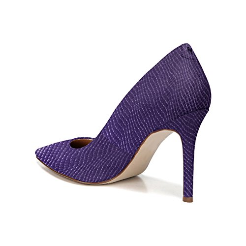 Ydn Donna Formale Punta A Punta Tacco Alto Pompe A Spillo Slip On Office Dress Scarpe Stampa Di Pelle Di Serpente Viola