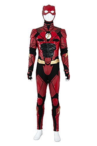 NoveltyBoy Men's Justice League Grand Heritage Flash Costume Barry Allen Ezra Miller Cosplay