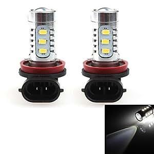 GD hj h11 16w 1400lm 6000-6500k 14 * cree llevó el bulbo de la luz foglight coche blanco (12-24, 2 unidades)
