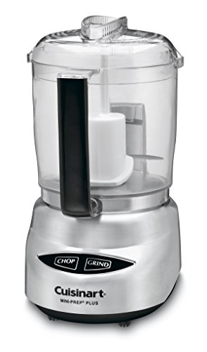 Cuisinart DLC-4CHB Mini-Prep Plus 4-Cup Food Processor; best food processor for nut butter in 2019