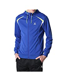 Fuerza Mens Premium Material Knit Hooded Track Jacket & Pants Tracksuit