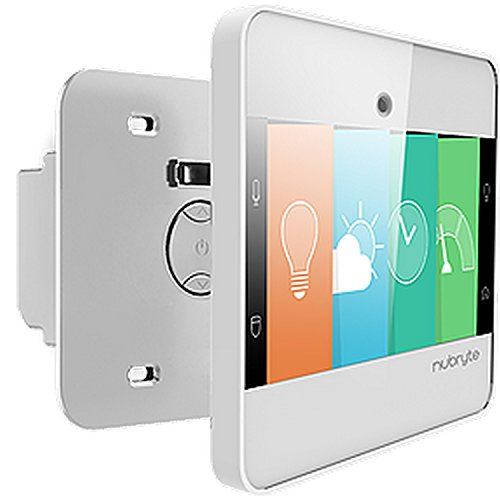 (NuBryte Touchpoint All-in-One Smart Security, Lighting Automation, Intercom, Family Hub - Single Switch - Works With Amazon Alexa)