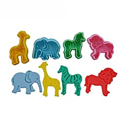 FOUR-C Cookie Cutters Zoo Animal Model Cookie Molds Cutter Set for Cookie Design Color Colorful