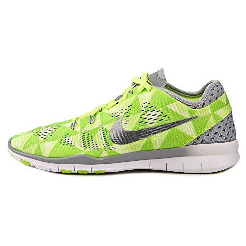 Zapatillas De Entrenamiento Nike Mujeres Free 5.0 Tr Fit 5 Prt Mujeres Us Volt / White / Wolf Grey