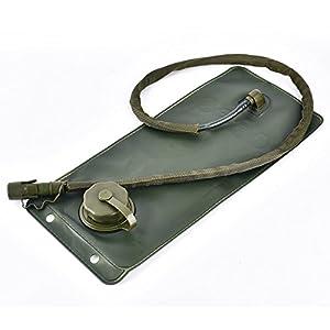 KLAREN US Army 3L 3 Liter (100 ounce) Hydration Pack Bladder Water Bag Pouch Hiking Climbing Survival Outdoor Back pack (Desert Tan)