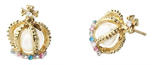 Elegant Style Pearl Cross Diamond Rhinestone Crown (Cross Crown Pin)