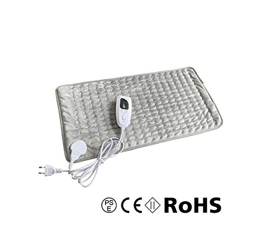 Electric Heat Pad (76 x 40 cm) with Auto Shut Off and 6 Temperature Levels, Machine-Washable Soft Velvet for Muscle Pain Relief on Back Neck Shoulder,A (Left Shoulder And Neck Pain Causing Headaches)