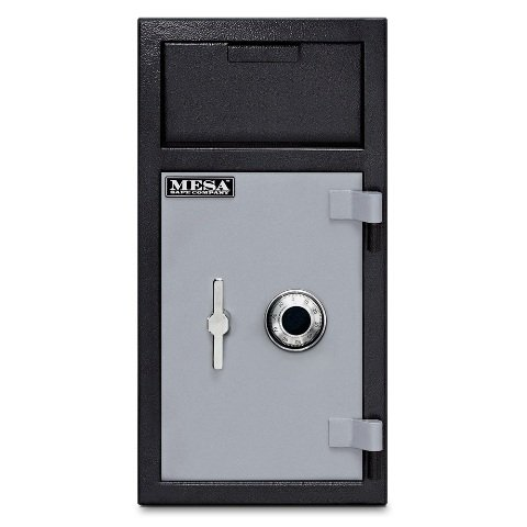 Mesa-Safe-MFL2714C-ILK-All-Steel-Depository-Safe-with-Interior-Locker-Combination-Lock-13-Cubic-Feet-Black-and-Grey