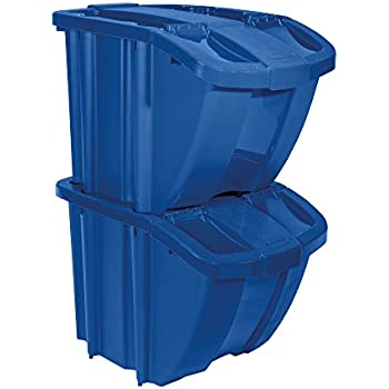 ingenious home recycling bin ideas. Suncast Recycle Bin Kit Amazon com  Blue Stackable Recycling Container with Handle 6