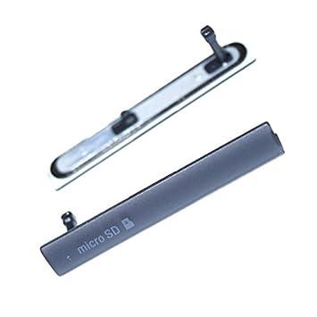 Puerto de carga USB polvo enchufe tapa tapa de Micro tarjeta SD Puerto Puerto de Tarjeta SIM para Sony Xperia Z3 compacto D5803, D5833
