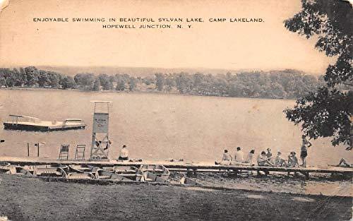 Swimming, Sylvan Lake Millbrook, New York Postcard at