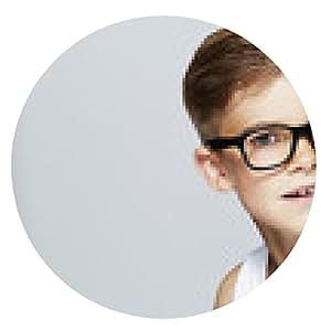 alfombrilla de ratón Retrato de joven muchacho que llevaba gafas, estudio. - ronda - 20cm