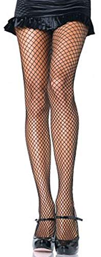 Leg Avenue Women's Plus Size Spandex Industrial Fishnet Tights, Black