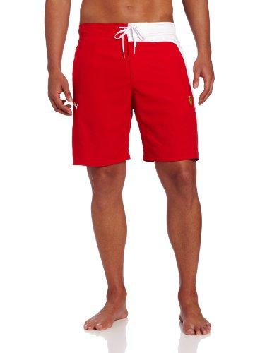- PUMA Men's Ferrari Board Shorts, Rosso Corsa, Small