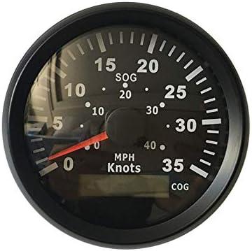ELING Waterproof GPS Speedometer 0-35KNOTS 0-40 MPH Odometer With ODO COG TRIP 85mm