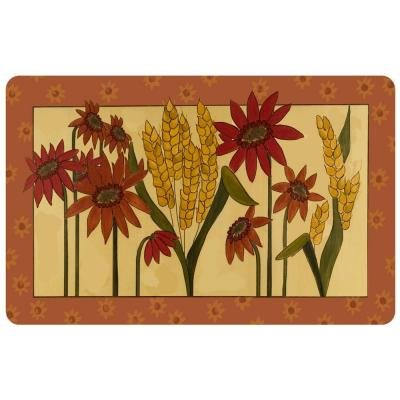 Bungalow Flooring Multi Color 23 in. x 36 in. Neoprene Kansas Wheat Door Mat by Bungalow