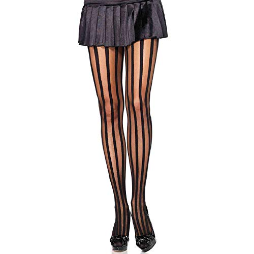 Avenue Stripe - Leg Avenue Womens Sheer Tights with Opaque Vertical Stripes