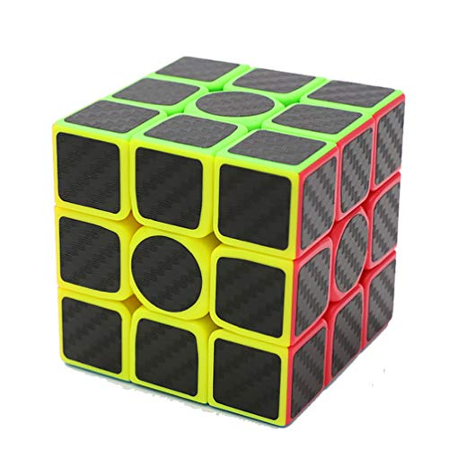 Ahyuan Professional Speed Magic Cube Carbon Fibre Stickers 3x3, Black -