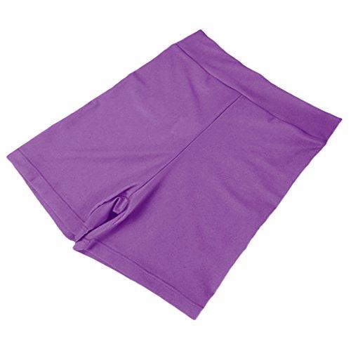 Pantaloncini Ragazze Pantaloni Spandex Donne Viola Della Scuro Non Di Corti Sharplace Palestra brand Leggings c6SWqF41