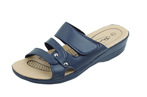 Sandales Sandals Wedge 2628 sunville Slide Navy Women's New gqwnxCpA