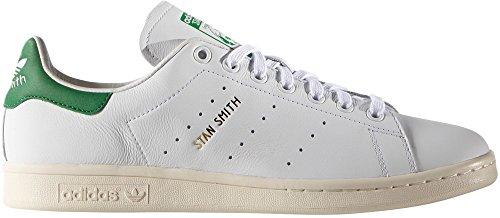 Adidas Stan Smith, Scarpe da Ginnastica Basse Uomo Ftwwht/Ftwwht/Green