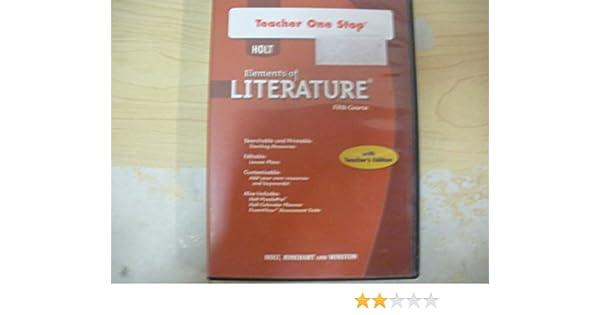 Holt Elements Of Literature Teacher One Stop