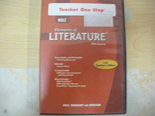 Holt Elements of Literature: Teacher One Stop DVD-ROM Fifth Course, American Literature