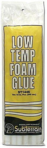 Woodland Scenics ST1446 Low Temp Foam Glue Sticks (10) by Woodland Scenics