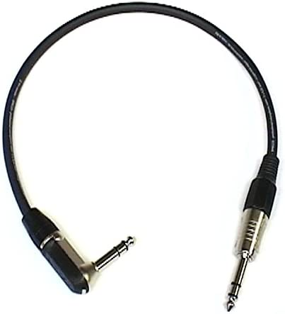 Right Angled to Straight TRS 1//4 Jack 0.75m Patch Lead Black