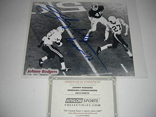Johnny Rodgers Photograph - Signed Johnny Rodgers Photo - Heisman 72 Athlon coa 8x10 - Autographed College Photos