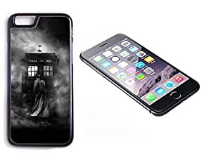 iPhone 6 Black Plastic Hard Case with High Gloss Printed Insert Doctor Who