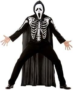 Cesar B841-003 - Disfraz de esqueleto para hombre, talla 48-50