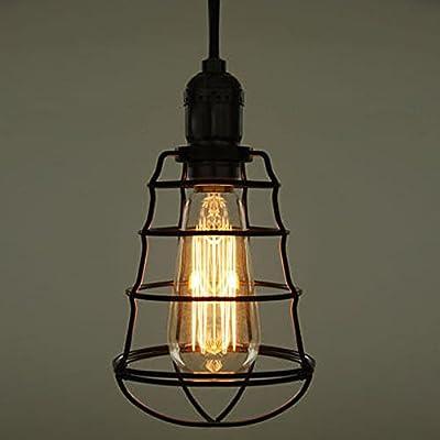 industrial loft lighting. SUSUO Lighting Iron Pendant Chandelier Industrial Loft Rustic Hanging Light Wire Cage Shade R