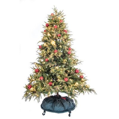 Tree Keeper Premium Holiday Christmas PRO Decorated Tree Storage Bag With Rolling Stand