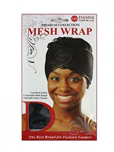 - Donna's Premium Cool Mesh Fabric Comfortable Wide Adjustable Mesh Wrap (Black)