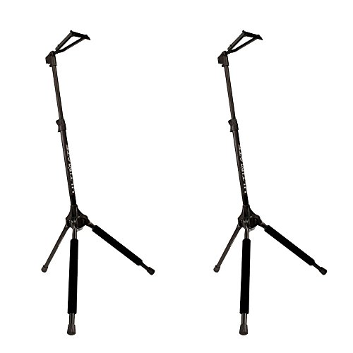 Ultimate Support GS-100 Genesis Series Guitar Stand with Locking Legs and Security Strap Yoke - Pack of 2
