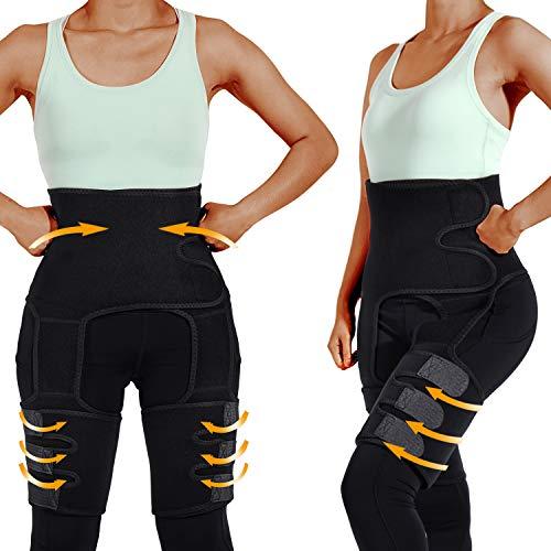 labato Full Body Waist Trainer for Women, 3 in1 Waist Thigh Trimmer Butt Lifter