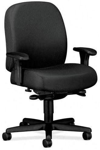 Hon Mid-Back Task Chair, 32-1 4 x 29-1 2 x 43-1 2 , Charcoal Gray