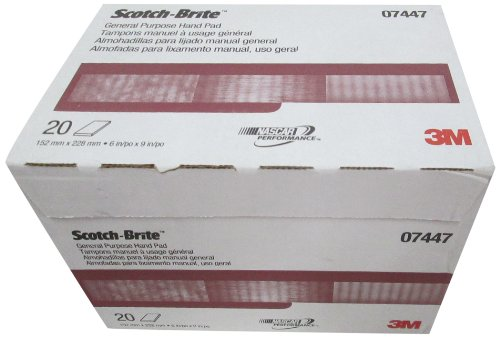 - 3M 07447 Scotch-Brite Maroon General Purpose Hand Pad,20 Pack