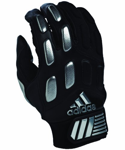 adidas Mallice II Football Receiver Gloves, Large, Black/Silver