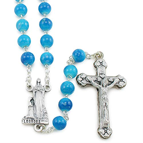 (Our Lady of Lourdes Blue Beads Rosary)