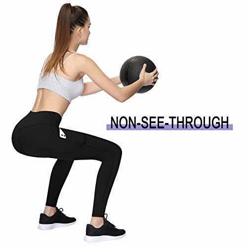 TQD High Waist Yoga Pants, Tummy Control, Pocket Yoga Pants for Women, 4 Way Stretch Yoga Leggings Workout Running Pants