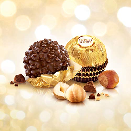 Ferrero Rocher Fine Hazelnut Milk Chocolates 24 Count Assorted Coconut Candy and Chocolate