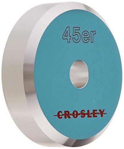 Crosley CR9001A-TU Aluminum 45 Adapter, Turquoise