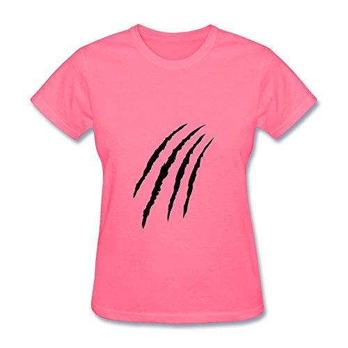 Price comparison product image Women's Claw Slash Pawls Animal Short Sleeve T-Shirt