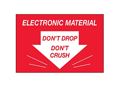 2.25 Width 2.25 Height RetailSource DL1314x1 2 x 3 -Dont Drop Dont Crush Electronic Material Labels Pack of 500 4.75 Length