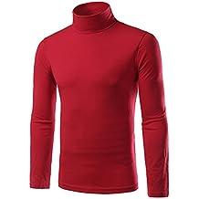 Chen Men Turtleneck Long Sleeves Slim Fit Pullover T-Shirts